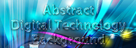 Abstract Digital Technology Illustration