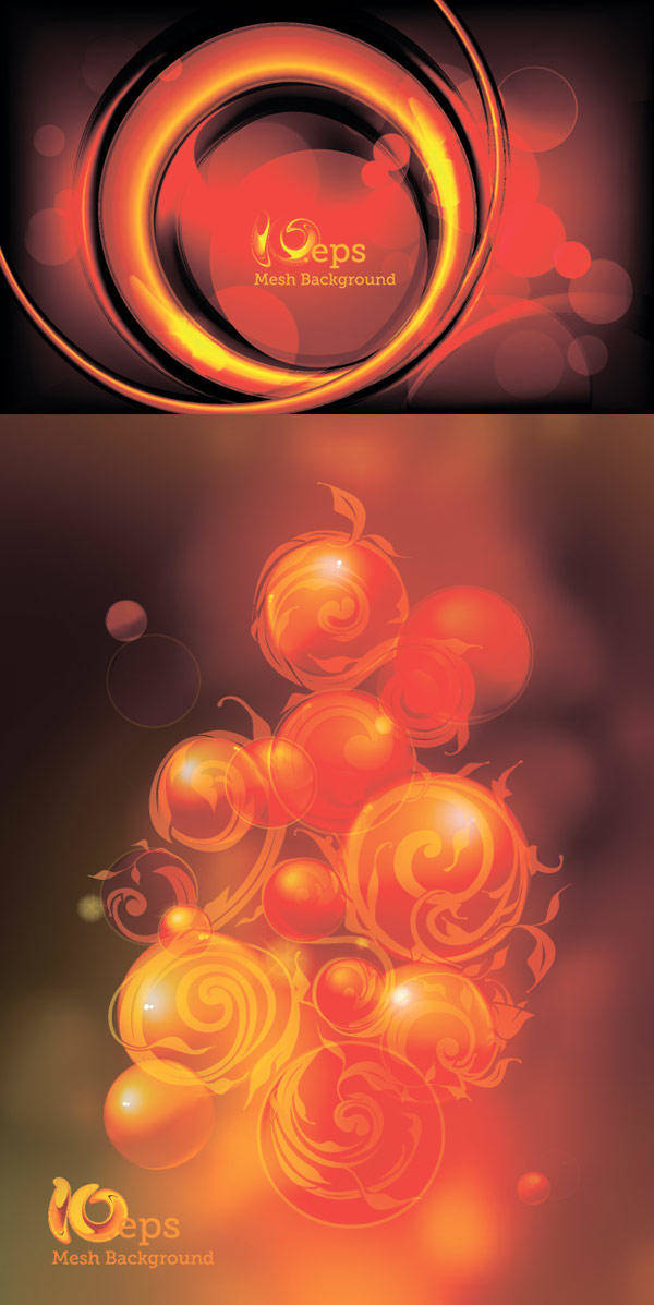 Flaming Sphere Background Vector Flaming Sphere Background