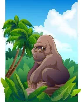 free vector Monkey 26