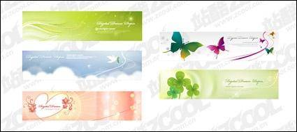Dreams banner vector material