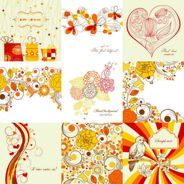 Exquisite Hand-painted Patterns 01 - Vector Beautiful Pattern Lines