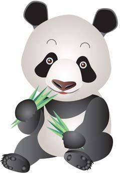 free vector Panda 1