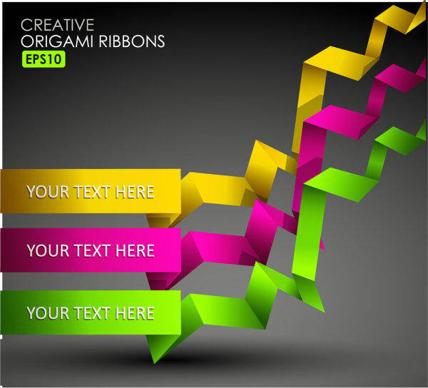 free vector Beautiful Color Of Typesetting Material 03-- Vector Material Beautiful Color Bar Ribbon