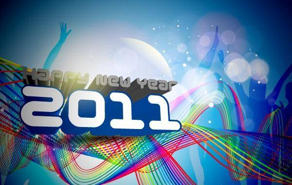 free vector Happy New Year 2011 Template New Year Background