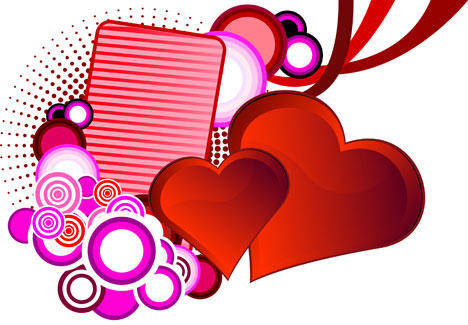 Love And St. Valentines Background Vector Background Heart Hearts