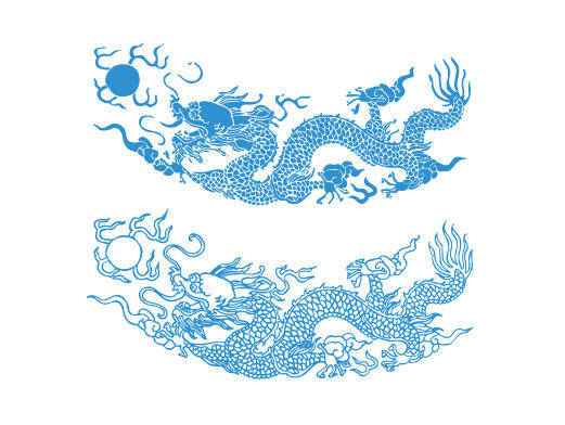 Dragon Pattern Vector Material Dragon