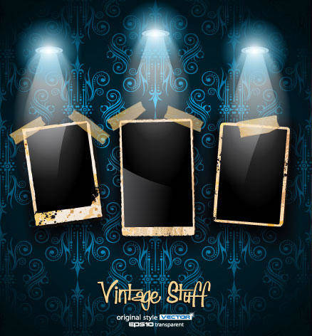 free vector Photo Frame Vintage Stuff Vector Background Clip Art Photo