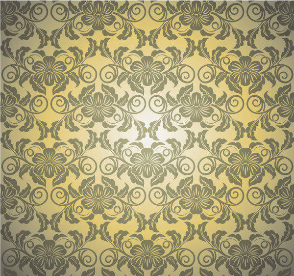 Background Pattern 01 - Vector Background Silhouette Lace