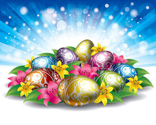 Free Stock Easter Eggs Backgrounds Vector Background Eggs Grass