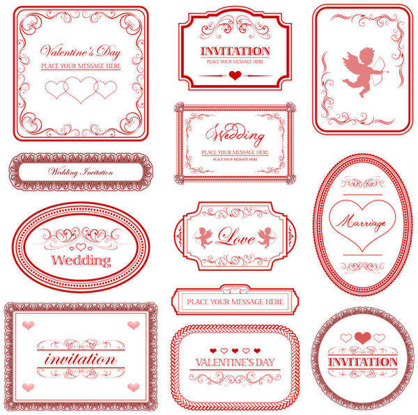Love The Pattern Of European Border - Vector Love European Vector