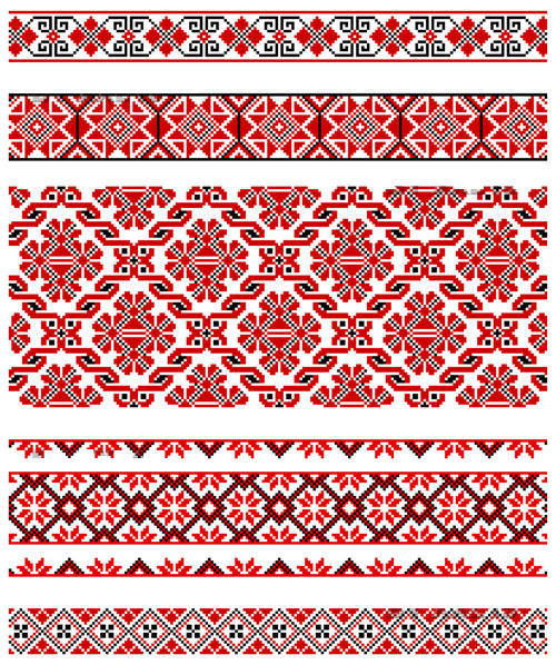Beautiful Costumes Pattern 02 - Vector Beautiful Vector