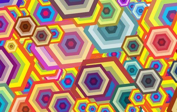 free vector Free Vector Wallpaper - Polygon Free Polygon Shapes