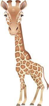 free vector Giraflfe 3