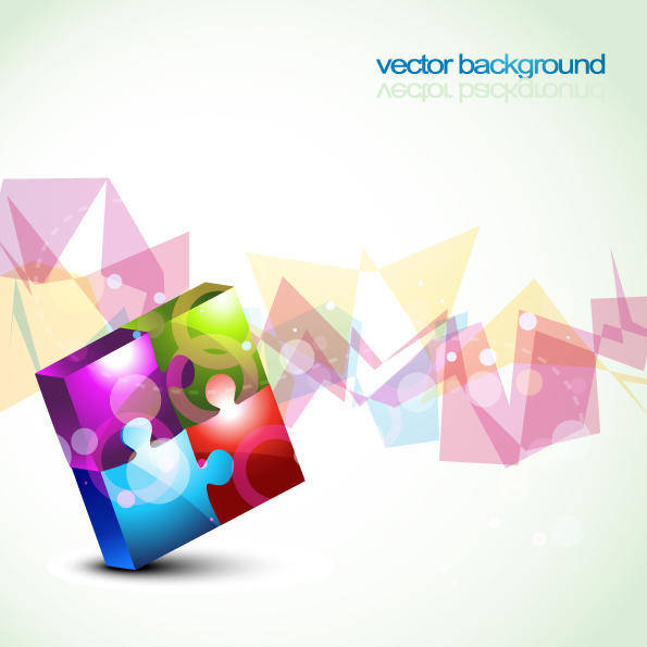 free vector Colorful Vector Puzzles Background Abstract Uncategorized Colorful