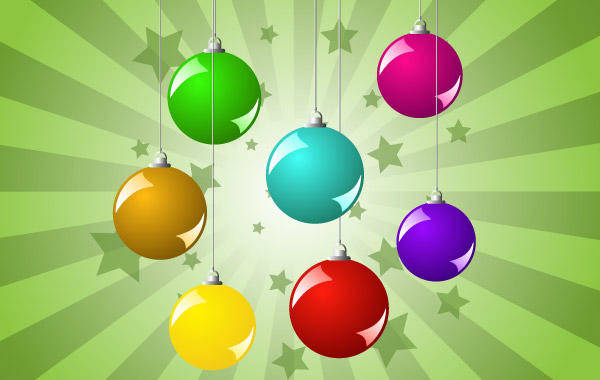 free vector Christmas Balls Background Christmas Balls Design