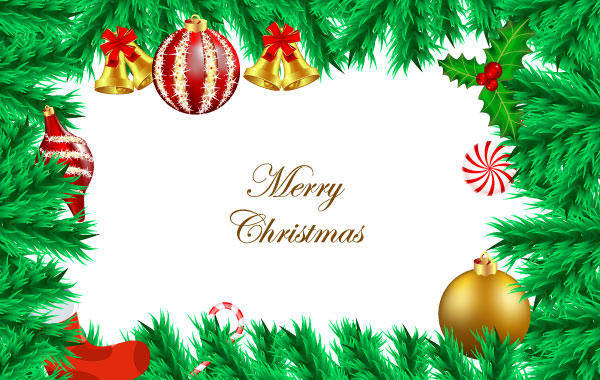 Vector Christmas Background Fir Christmas Xmas