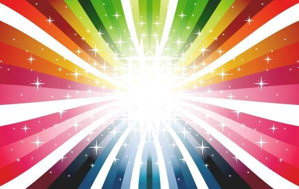 free vector Colorful Rays Vector Colors Colorful Rays