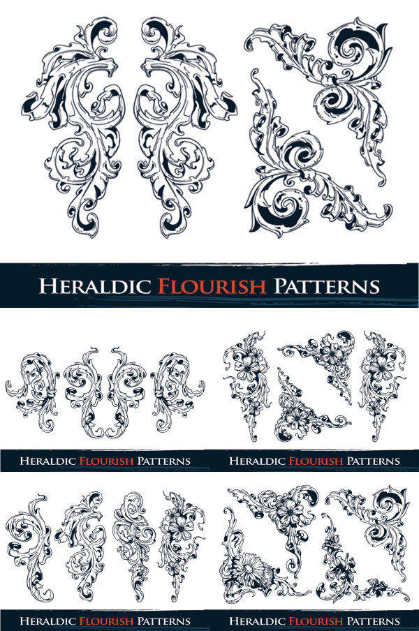 free vector Ornate Pattern Vector Material Ornate Lace Patterns