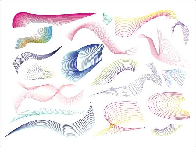 20 Vector Lines Swirls And Patterns Vector Lines Swirls
