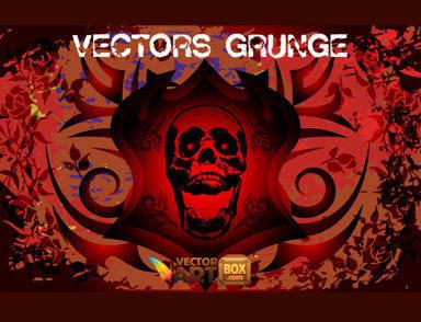 free vector Vectors Grunge Freebie Grunge Skull