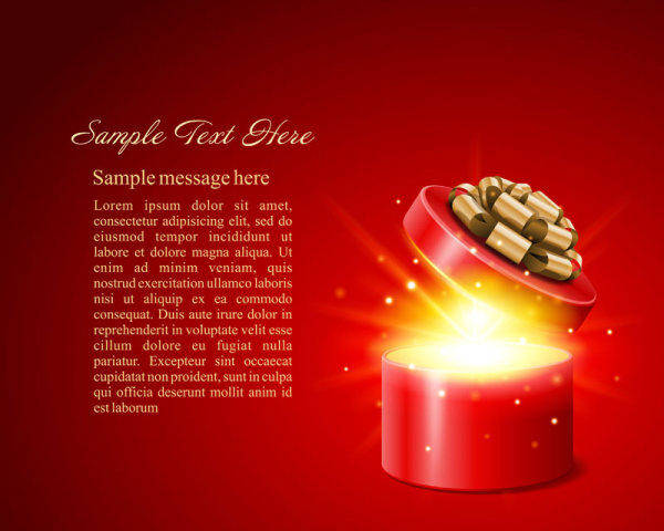 Gorgeous Festive Vector Background Label Gorgeous