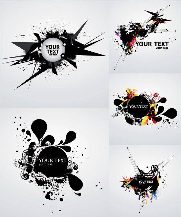 free vector Vector Background Of The Ink Flow Dynamic Vector