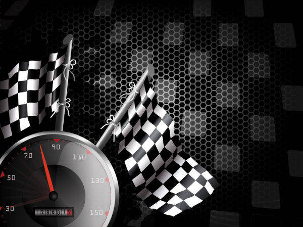 Racing Theme Background Pattern 04-- Vector Material Race Speedometer Odometer