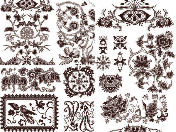 Exquisite Classic Traditional Pattern Vector Material Exquisite