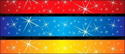 Stars sparkling vector background material