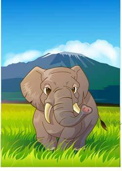 free vector Elephant 11