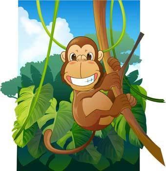 free vector Monkey 28