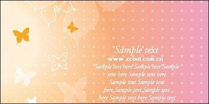 free vector Dream Butterfly Vector Background material