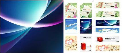 free vector Patterns, aircraft, heart-shaped, three-dimensional cylinder, background glare