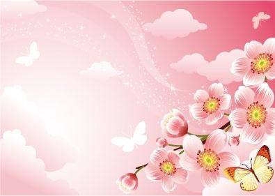 free vector Cherry blossom background