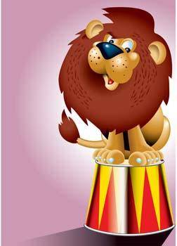 free vector Lion 14