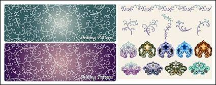 free vector Vector background patterns-25