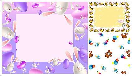 free vector Animals borders and lovely picture frames