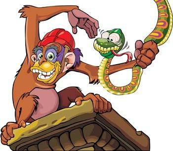 free vector Monkey 8