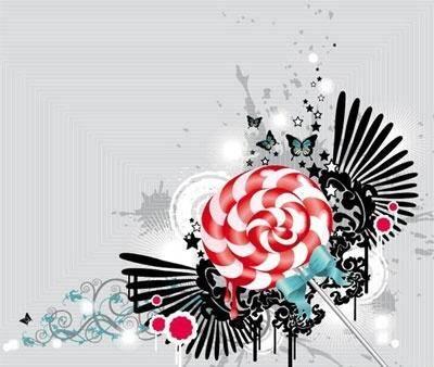 free vector Lollipop background