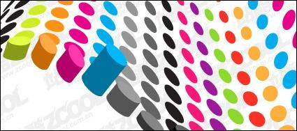 free vector Cylindrical color three-dimensional vector material