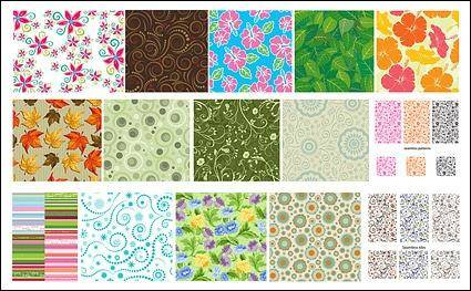 Featured tile pattern vector background material -1