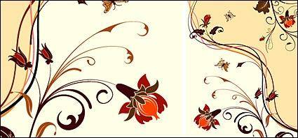 free vector Fashion Flower background material element vector