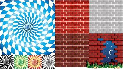 free vector Spin lattice background and brick wall