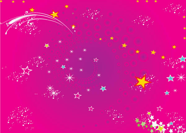 free vector Red Stars Background