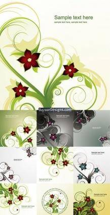 free vector Abstract floral background 2