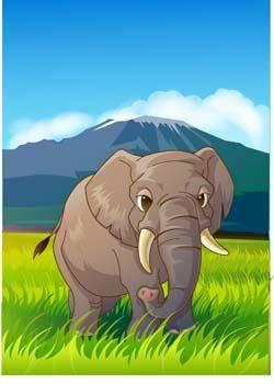 free vector Elephant 12