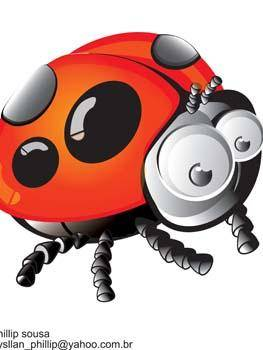 free vector Red Bugs 7
