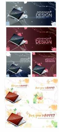 free vector Notebook on abstract background