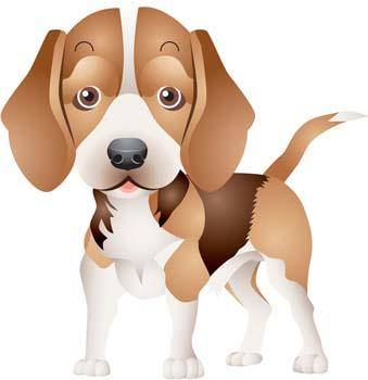 free vector Little brown dog