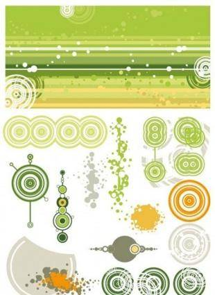 free vector Green background and design elements